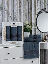 Комплект полотенец ТомДом Эмбига (темно-серый) набор банных полотенец aquarelle весна 720619 темно синий светло желтый 50 х 90 см 2 шт