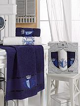 Комплект полотенец ТомДом Лауренс (синий) комплект полотенец томдом смиволия синий