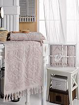 Комплект полотенец ТомДом Этария (брусничный)