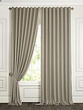 Комплект штор ТомДом Бруем (серо-коричневый) комплект штор томдом люсфильд серо коричневый