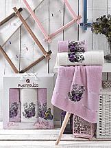 Комплект полотенец ТомДом Лавсо (сиреневый)