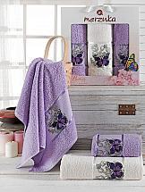 Комплект полотенец ТомДом Лавсо (лиловый)