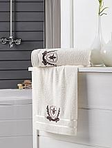 цена Комплект полотенец ТомДом Патара (кремовый) онлайн в 2017 году