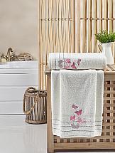 цена Комплект полотенец ТомДом Белина (кремовый) онлайн в 2017 году