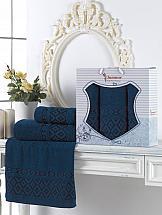 Комплект полотенец ТомДом Гарлези (синий) комплект полотенец томдом смиволия синий