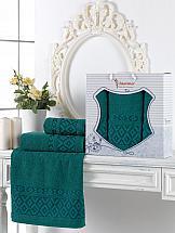 Комплект полотенец ТомДом Гарлези (темно-зеленый) цена и фото