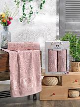 Комплект полотенец ТомДом Вивлида (пудра) комплект полотенец томдом гермея пудра