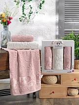 Комплект полотенец ТомДом Дивнарс (пудра) комплект полотенец томдом гермея пудра