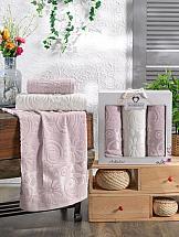 Комплект полотенец ТомДом Дивнарс (светло-розовый) набор банных полотенец aquarelle весна 720619 темно синий светло желтый 50 х 90 см 2 шт