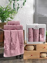 Комплект полотенец ТомДом Бажент (брусничный)