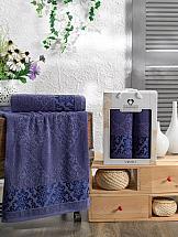 Комплект полотенец ТомДом Смиволия (синий) комплект полотенец томдом смиволия синий