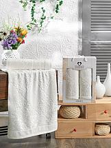 Комплект полотенец ТомДом Смиволия (кремовый) комплект полотенец томдом смиволия синий