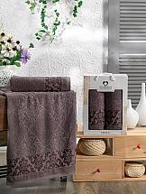 Комплект полотенец ТомДом Смиволия (шоколадный) комплект полотенец томдом смиволия синий