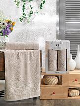 Комплект полотенец ТомДом Смиволия (бежевый) комплект полотенец томдом смиволия синий
