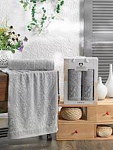 Комплект полотенец ТомДом Смиволия (светло-серый) комплект полотенец томдом смиволия синий