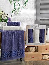 Комплект полотенец ТомДом Липионт (синий) комплект полотенец томдом смиволия синий