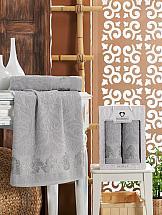 Комплект полотенец ТомДом Агридас (светло-серый) цена и фото