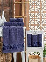 Комплект полотенец ТомДом Фаринота (синий) набор банных полотенец aquarelle весна 720619 темно синий светло желтый 50 х 90 см 2 шт