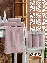 Комплект полотенец ТомДом Ливонас (светло-розовый) цена и фото