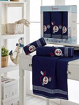Комплект полотенец ТомДом Литвинс (синий) комплект полотенец томдом смиволия синий
