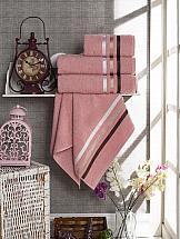 Комплект полотенец ТомДом Селами (брусничный)