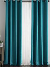 Комплект штор ТомДом Браер (морская волна) шторы для комнаты blackout комплект штор блэкаут софт b531 2 морская волна 200 270 см
