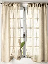 Комплект штор ТомДом Ланфи (бежевый) комплект штор для кухни тд текстиль велюшки на ленте 2 шторы 75 х 180 см 2 тюля 140 х 170 см 2 подхвата цвет бежевый темно бежевый