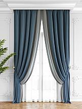 Комплект штор ТомДом Твеон (лазурно-серый) комплект штор томдом твеон песочный