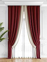 Комплект штор ТомДом Твеон (красно-молочный) портьера томдом кордис красно серый