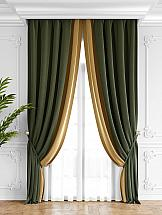 Комплект штор ТомДом Твеон (оливково-золотой)