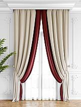 Комплект штор ТомДом Твеон (бело-красный) стеновая панель клубника 90x0 6x60 см стекло цвет бело красный