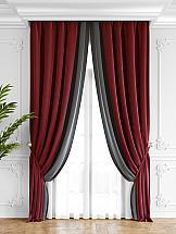 Комплект штор ТомДом Твеон (красно-серый) комплект штор томдом твеон песочный