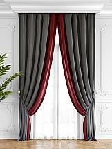 Комплект штор ТомДом Твеон (серо-красный) комплект штор томдом твеон песочный