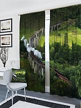 Комплект фотоштор ТомДом Паровоз на мосту