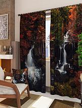 Комплект фотоштор ТомДом Осенний водопад шторы томдом фотошторы осенний дуб