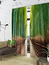 Комплект фотоштор ТомДом Бамбуковый мост
