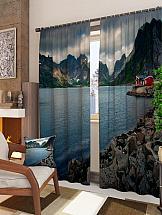 Комплект фотоштор ТомДом Дом у горного озера барный стул woodville oazis белый