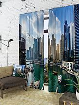 Комплект фотоштор ТомДом Персидский залив комплект фотоштор томдом персидский залив