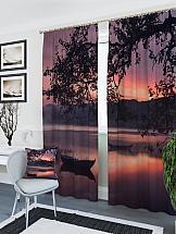 Комплект фотоштор ТомДом Закат у реки комплект фотоштор томдом терраса у моря