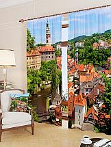 Комплект фотоштор ТомДом Средневековый маленький город комплект фотоштор томдом средневековый маленький город
