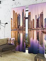 Комплект фотоштор ТомДом Вид на город с воды комплект фотоштор томдом средневековый маленький город