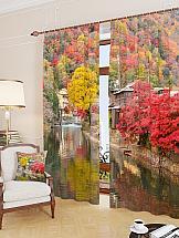 Комплект фотоштор ТомДом Осенние краски комплект фотоштор томдом город 21 века