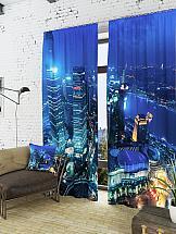 цена Комплект фотоштор ТомДом Огни ночного мегаполиса онлайн в 2017 году
