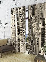 Комплект фотоштор ТомДом Отражение мегаполиса