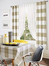 Комплект штор ТомДом Шатио (бежевый) комплект штор для кухни тд текстиль велюшки на ленте 2 шторы 75 х 180 см 2 тюля 140 х 170 см 2 подхвата цвет бежевый темно бежевый