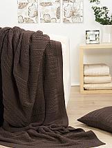 Плед ТомДом Браенг (коричневый) плед двуспальный santalino косы 200 220 см серый