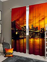 Комплект фотоштор ТомДом Закат в Манхетенне комплект фотоштор томдом персидский залив