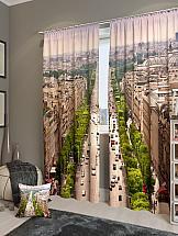 Комплект фотоштор ТомДом Над Парижем