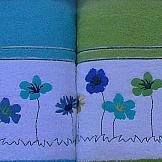 Комплект полотенец ТомДом Трамана (салатовый/голубой) комплект полотенец томдом бушфил голубой