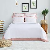 Постельное белье ТомДом Тэпси (белый-розовый) комплект постельного белья tango hearts евро наволочки 50 x 70 см цвет розовый